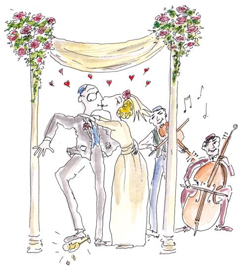 Jewish wedding illustrations – Nicola Streeten