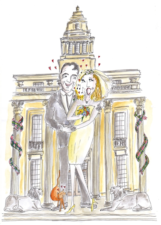 Jewish wedding illustrations – Nicola Streeten